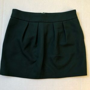 Zara Woman Pleated Wool Mini Green Large Lined